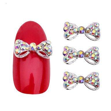 Buy Sellify 3d Alloy Rhinestone Bow Tie Nail Art Decorations 10pcs