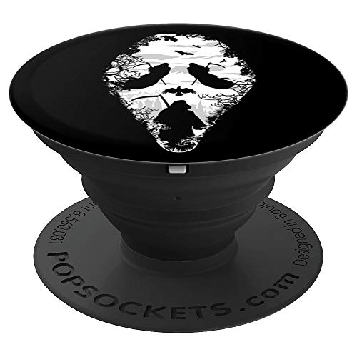 Scary Grim Reaper Ghost Face Halloween Horror Gift - PopSockets Grip and Stand for Phones and Tablets -