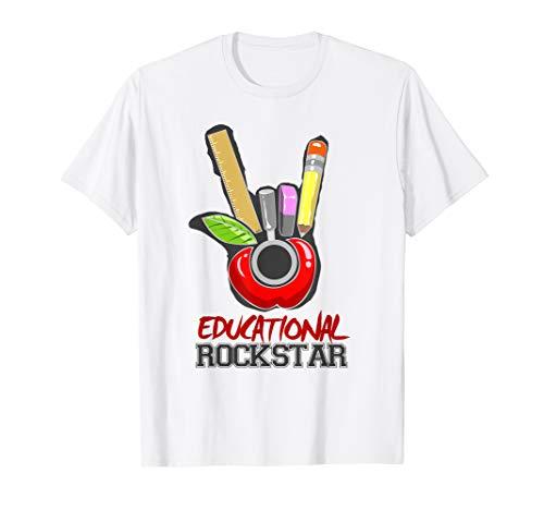 Cool Educational Rockstar Hand Horn Sign TShirt -