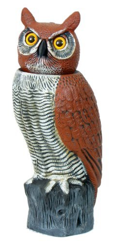 Gardeneer RHO-4 Natural Enemy Scarecrow Rotating-Head Owl (Rotating Head Gardeneer)