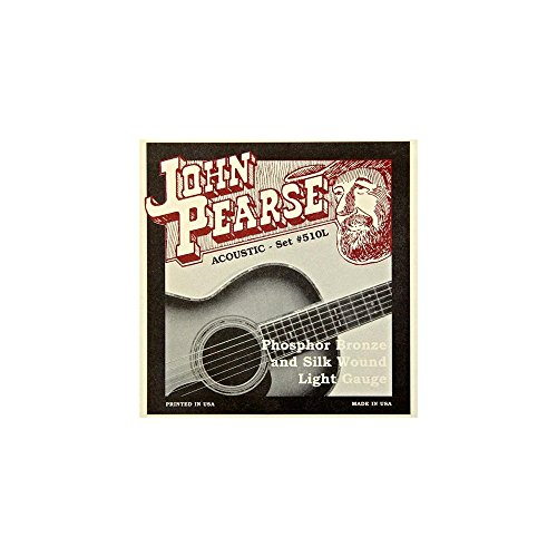 - John Pearse 510L Acoustic Phosphor Bronze and Silk Wound, light