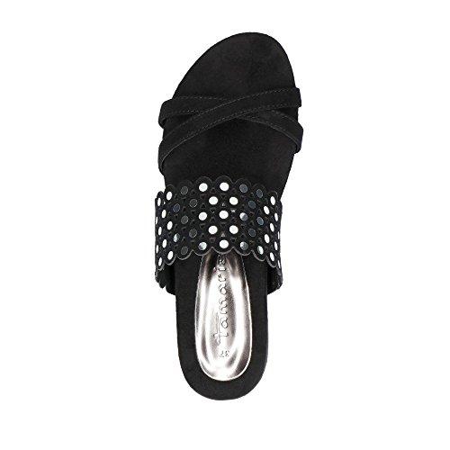 confortables 27119 Chaussures noires Mules femmes pour à mode 1 sandales femmes chaussures 1 Tamaris 38 d'été Femmes la et Aq7wx1S