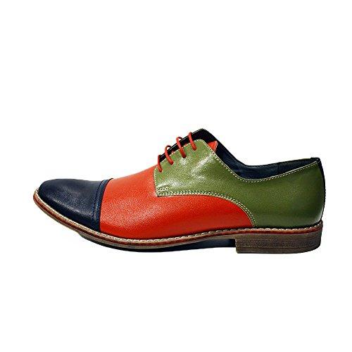 Modello Castellammare di Stabia 2 - Cuero Italiano Hecho A Mano Hombre Piel Vistoso Zapatos Vestir Oxfords - Cuero Cuero suave - Encaje