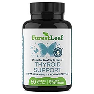 Thyroid Support Supplement with Iodine – All Natural Mineral and Vitamin Complex with B12, Zinc, Selenium, and More – 60…