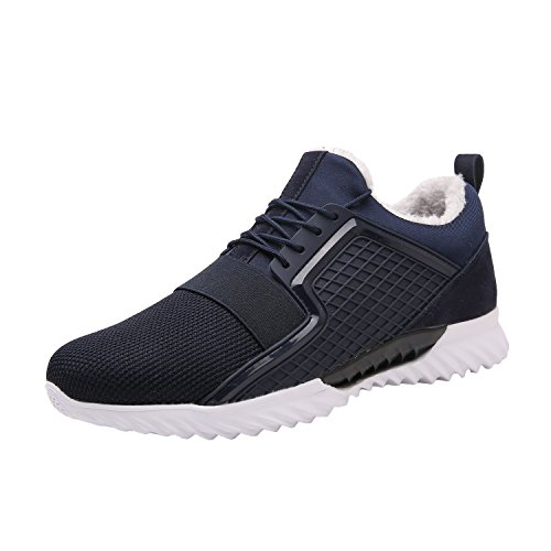 Maylen Hughes Men's Running Shoes Trainers For Multi Sport Athletic Jogging Fitness Navy(with fur) lM8Y7jaJIE