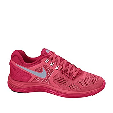 Women's Nike Lunareclipse 4 Running Shoes. Size 12. GERANIUM/REFLECT SILVER-LEGION  RED/PEARL PINK