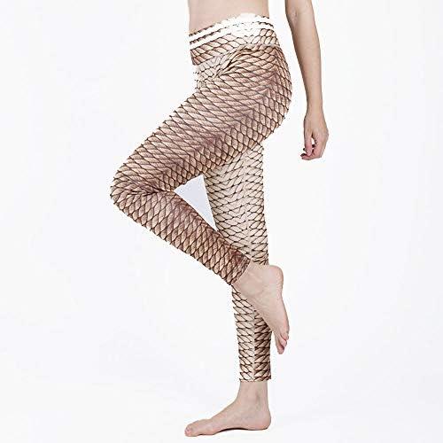 Kanqingqing Frauen Yoga Hosen Yogahosen der Frauen drucken Pfirsich Hüfte Yoga Fitness Leggings Jogginghose für Yoga, Bewegung, Fitness (Size : L)