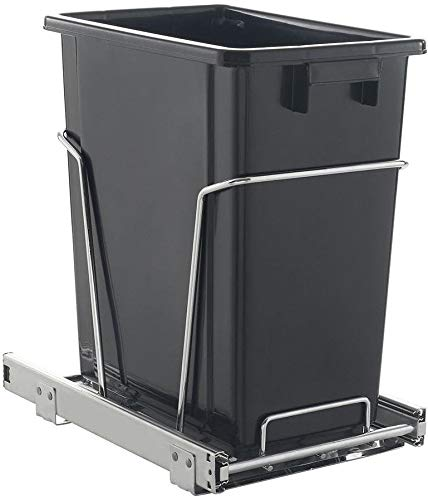 baree shop 17 Qt. Black Kitchen Under-Counter Cabinet Garbage Pull-Out Trash Can Waste - Undercounter Pull Out Can