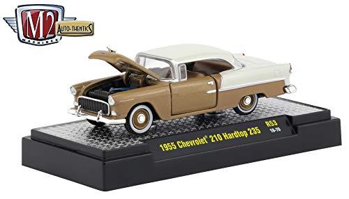 M2 Machines 1955 Chevrolet 210 Hard Top 235 (Navajo Tan w/India Ivory Top & Rear) Auto-Thentics Series Release 53 - Castline 2019 Premium Edition 1:64 Scale Die-Cast Vehicle (R53 18-70)