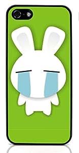 linJUN FENGBunny rabbit Hard Case for Apple iPhone 5/5S ( Sugar Skull )