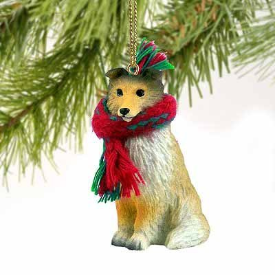 Shetland Sheepdog Christmas Ornament (Sheltie Miniature Dog Ornament - Sable)