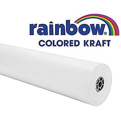 raft Paper Roll, 40 lb, 48 Inches x 200 Feet, White ()