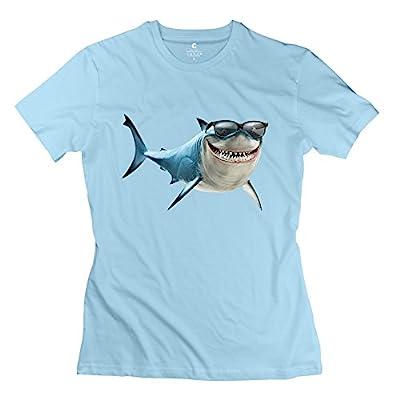 Custom Finding Nemo Bruce Sunglasses Women's T Shirt SkyBlue