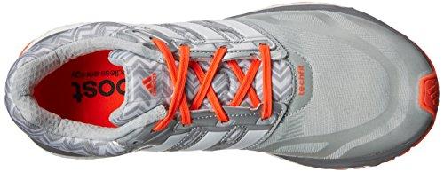 Adidas Performance Womens Response Boost Techfit Scarpa Da Corsa Bianco / Argento Metallizzato / Leggero Onice