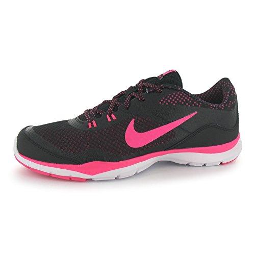 NIKE Flex Imprimé formation Chaussures pour Femme Noir/Rose Sport Fitness Formateurs Sneakers