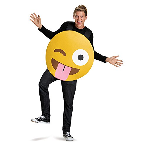 Emoji costume for kids amazon disguise tongue out costume yellow one size solutioingenieria Images