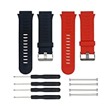 Garmin Forerunner 920XT Accessories Replacement Band, Adjustable Soft Silicone Strap Wrist Watch Band with Free Installation Tools and Lugs Adapters Designed for Garmin Forerunner 920XT GPS Multisport Watch