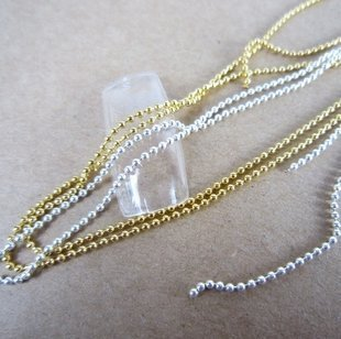 So Beauty Set of 2: Silver & Gold Beads Stone Chain Nail Art Decoration
