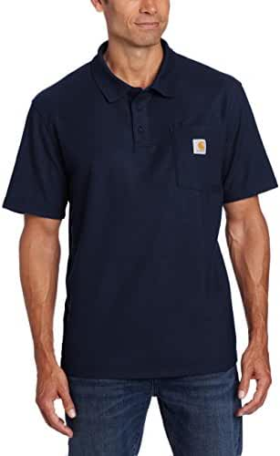 Carhartt Men's Big & Tall Contractors Work Pocket Polo Original Fit K570