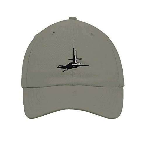 Grey 6 Panel Cotton Twill - Speedy Pros Submarine Embroidery Twill Cotton 6 Panel Low Profile Hat Light Grey