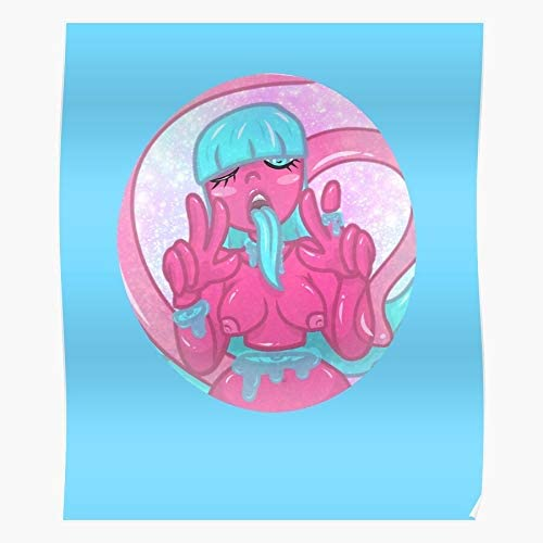 Amazon Com Kawaii Goop Candy Guro Candygore Gore Cute Impressive Posters For Room Decoration Printed With The Latest Modern Technology On Semi Glossy Paper Background Posters Prints The space background really adds to it i feel like c kawaii goop candy guro candygore gore