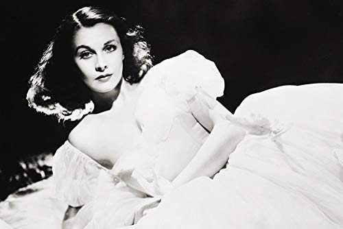 Vivien Leigh Graph White Dress Classic 24x18 Poster