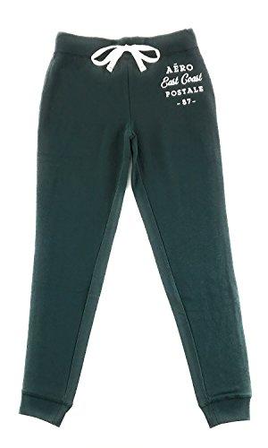 Aeropostale Womens Aero New York Jogger Sweatpants Dark Green XX-Large