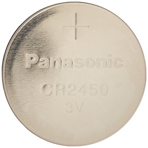 Panasonic Cr2450 Cr 2450 Lithium 3v Battery [ Pack of 4 ] (Cell Cr2450 Coin 3v Lithium)