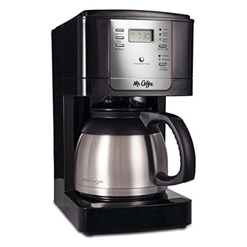 Mr. Coffee JWTX85-RB 8-cup Advanced Brew Programmable Coffee Maker with Thermal Carafe