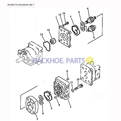 Amazon Com For Komatsu Excavator Pc20 7 Pc10 7 Pc15 3 Hydraulic