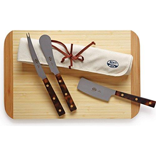 Coltellerie Berti Set of 3 Cheese Knives | Tortoise Handles by Coltellerie Berti