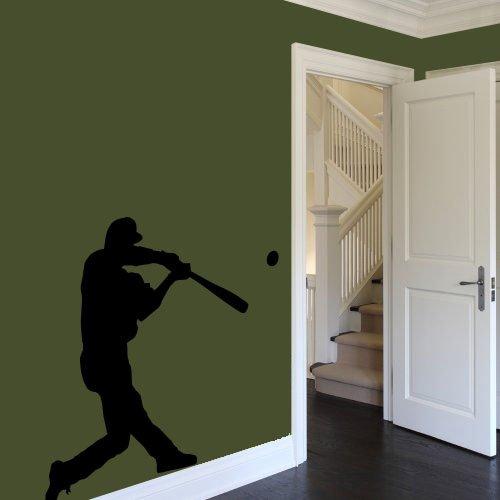 vinyl wall decal sticker boy baseball player gift teenager play game kids a5 (Baseball Player Wall Decal)