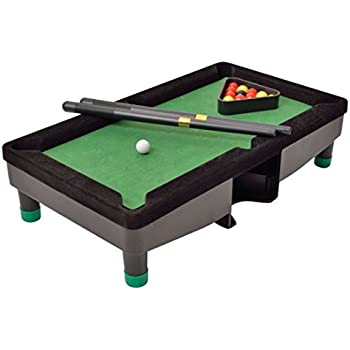 Desktop Miniature Pool Table Set With Mini Pool Balls Cue Sticks  Accessories   Tabletop Toy Gaming