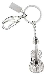 FEBNISCTE 4G Silver Crystal Violin 4GB USB 2.0 Flash Drive Memory Stick Best Gift for Friends