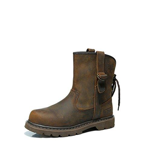 Cuir Boots Eu Marron Mixte 38 Adulte Mode Homme bottes suo Cheval Femme Z vEqptZT