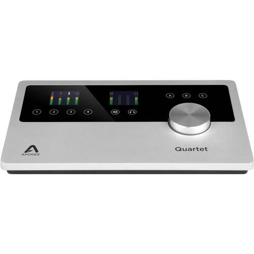 Apogee Electronics Quartet Multi-Channel Audio Interface for iPad & Mac, - Bundle With Audio-Technica ATH-M50x Professional Monitor Headphones, Black