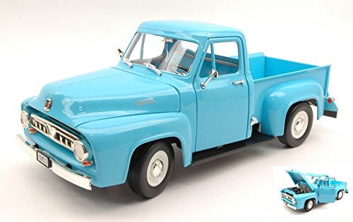 FORD F100 PICK UP 1953 LIGHT blu 1 18 - Lucky Die Cast - Auto Stradali - Die Cast - Modellino