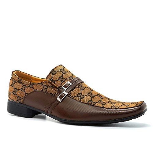 mit Durchgängies London Footwear Keilabsatz Sandalen Herren Schwarz Braun Plateau wXFUX