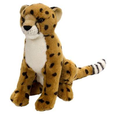 - Realistic Sitting Cheetah Plush Animal