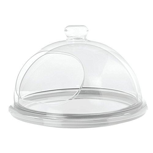 Delfin Acrylic - Delfin Clear Acrylic Turn-N-Serve Dome - 15