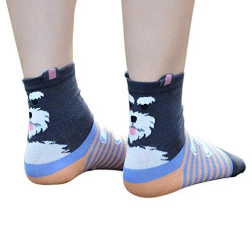 Gotd Women's Animal Pattern Casual Cotton Socks 1 Pair Xmas Gift (Schnauzer)