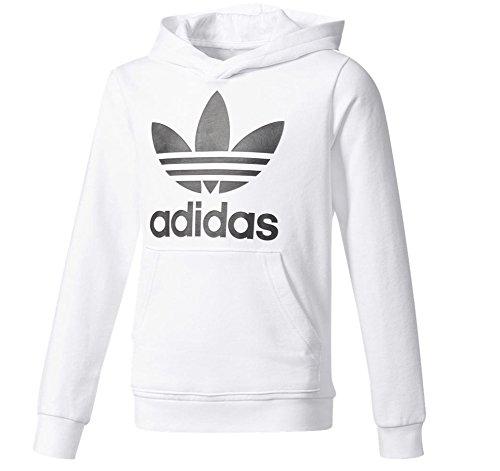 adidas Boys Originals Trefoil Hoodie (White/Black, L)