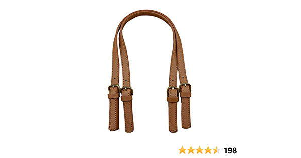 2PCS Genuine Leather Bag Straps Handle Top Layer Cowhide for DIY Hand Accessories Replacement Interchangeable Shoulder Belt Strap Beige