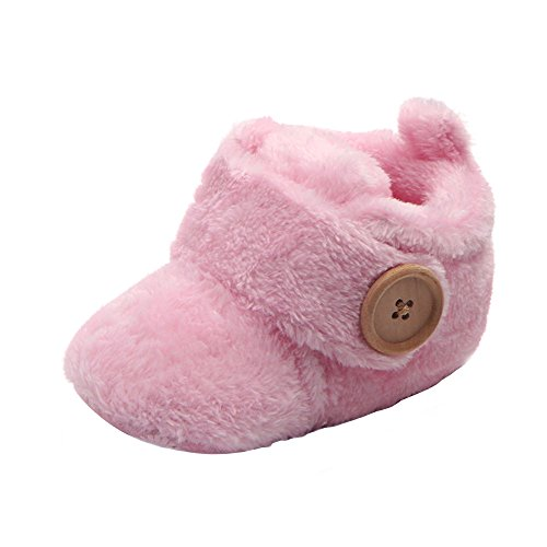 Lurryly Snow Boots Warm Shoes Cute Winter Baby Girls Soft Slippers((Toddler/Little Kid) ()