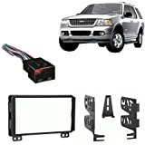 Fits Ford Explorer 2004-2005 Double DIN Stereo Harness Radio Install Dash Kit
