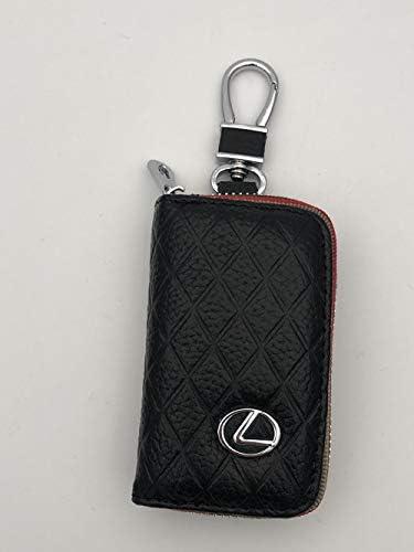 [해외]DEFTEN 새로운 렉서스 프리미엄 가죽 자동차 열쇠 고리 동전 홀더 지퍼 케이스 리모트 지갑 가방 ES NX RX LX LS CT는 GS UX LC RC 모든 렉서스 모델에 적합합니다 (블랙) / DEFTEN The New Lexus Premium Leather Car Key Chain Coin Holder Zipper...