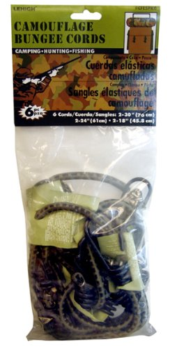 6-Pack Crawford-Lehigh Group SecureLine CFESPK6 Camouflage Bungee Cords Various Sizes