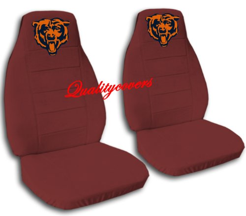 2 Burgundy Chicago seat covers for a 2007 to 2012 Chevrolet Silverado. Side airbag friendly. by Designcovers