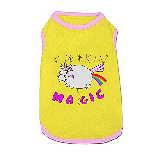 (ZRRTTG Dog Vest,Sparkles The Inappropriate Unicorn Printed Pet Clothing Pet Costume Small Pet Dog Puppy Cat Clothes Apparel T Shirt)