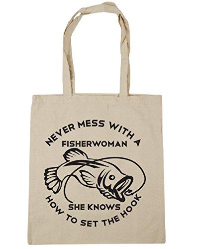 HippoWarehouse - Bolsa de playa de Algodón  Mujer Natural